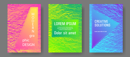Buzzing rippling motion background texture. Pink blue green rainbow waves textures. Company strategy book covers. Vector Illustration