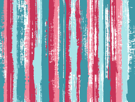 Watercolor strips seamless vector background. Parellel gouache vertical lines seamless backdrop. Striped tablecloth textile print. Grungy ink doodles simple endless texture.