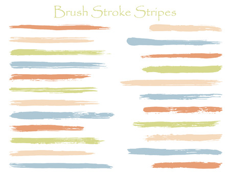 Scribble ink brush stroke stripes vector set, green horizontal marker or paintbrush lines patch. Hand drawn watercolor paint brushes, smudge strokes collection. Interior paint color palette swatches. Vector Illustration