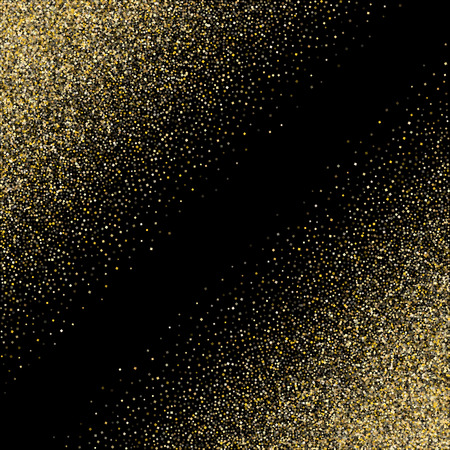 L'or scintille fond de vecteur de confettis métalliques de poussière de paillettes. Fond étincelant doré de qualité supérieure. Vecteur de fête de confettis or stardust texture clinquant. Décor métallique jaune pailleté. Vecteurs