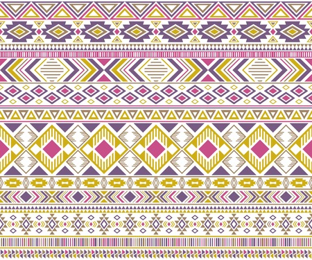 Gypsy pattern tribal ethnic motifs geometric vector background. Doodle gypsy geometric shapes sprites tribal motifs clothing fabric textile print traditional design with triangles