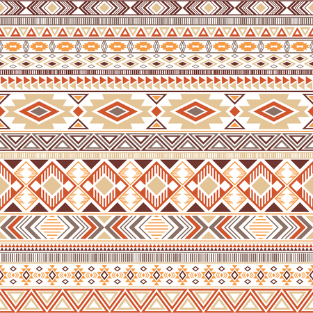 Aztec american indian pattern tribal ethnic motifs geometric vector background. Cool native american tribal motifs textile print ethnic traditional design. Mexican folk fashion.