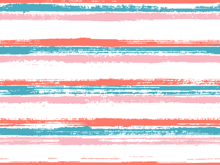Hand drawn paint stripes fabric print seamless vector. Curtains old style pattern. Hand painted stripes vintage fabric print design. Punk millennial graphics. Ink paint lines textured background. Ilustração