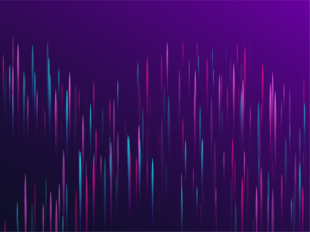 Fiber optics abstract cyber background. Glowing lines falling abstract big data concept tech vector background. Digital geometric blue purple lines streams visual optic technology, speed concept. Ilustração