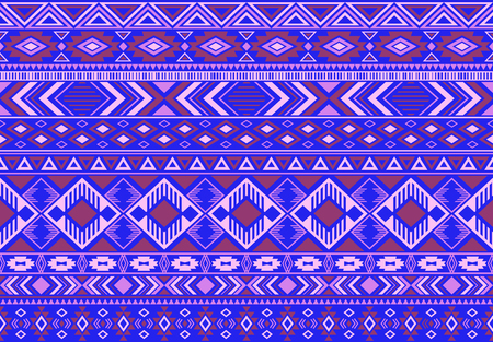 Boho pattern tribal ethnic motifs geometric seamless vector background. Trendy indian tribal motifs clothing fabric textile print traditional design with triangle and rhombus shapes.