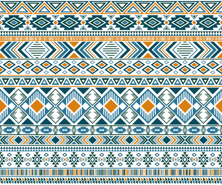 Gypsy pattern tribal ethnic motifs geometric vector background. Cute geometric shapes sprites tribal motifs clothing fabric textile print traditional design with triangles