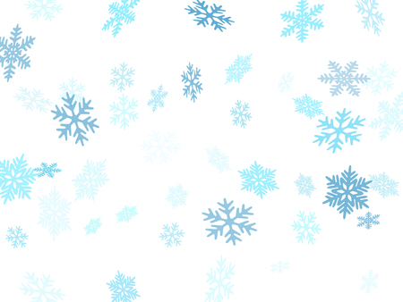 Snow flakes falling macro vector graphics, christmas snowflakes confetti falling scatter card. Winter snow shapes decor. Windy flakes falling and flying winter cool vector background.