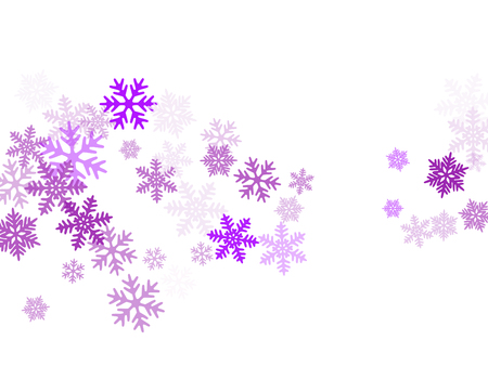 Snow flakes falling macro vector design, christmas snowflakes confetti falling chaotic scatter card. Winter xmas snow background. Windy flakes falling and flying winter trendy vector background.