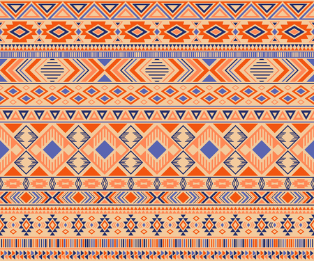 Peruvian american indian pattern tribal ethnic motifs geometric vector background. Unusual native american tribal motifs textile print ethnic traditional design. Peruvian folk fashion. Reklamní fotografie - 117224981