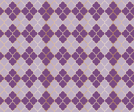 Osman Mosque Vector Seamless Pattern. Argyle rhombus muslim textile background. Traditional mosque pattern with gold grid. Cool islamic argyle seamless design of lantern lattice shape tiles.