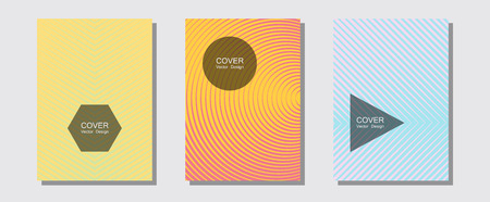 Abstract shapes of multiple lines halftone patterns. Balanced posh mockups. Halftone lines music poster background. Trendy magazines. Cool abstract shapes gradient texture backgrounds.