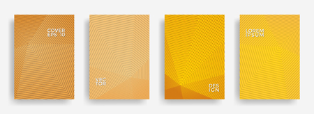 Colorful annual report design vector collection. Gradient halftone grid texture cover page layout templates set. Report covers geometric design, business booklet pages corporate templates.