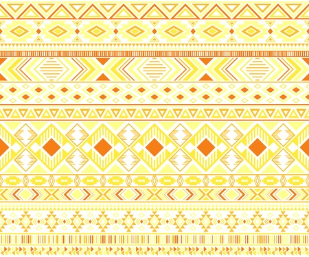 Gypsy pattern tribal ethnic motifs geometric vector background. Graphic geometric shapes sprites tribal motifs clothing fabric textile print traditional design with triangles