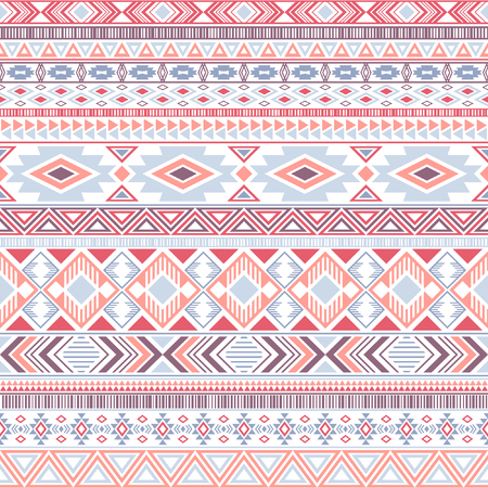 Mexican american indian pattern tribal ethnic motifs geometric seamless background. Eclectic native american tribal motifs textile print ethnic traditional design. Mexican folk fashion.