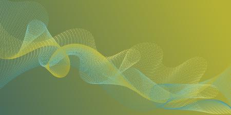 Fiber lines geometric simple background. Stylish progressive technology vector wallpaper. Uneven curl lines ripple texture design. Blend curves minimal 3d banner or flyer background. Illusztráció