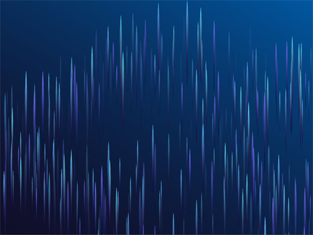 Digital geometric blue lines streams visual optic technology, speed concept. Glowing lines falling abstract big data concept tech vector background. Fiber optics cool scientific background in blue