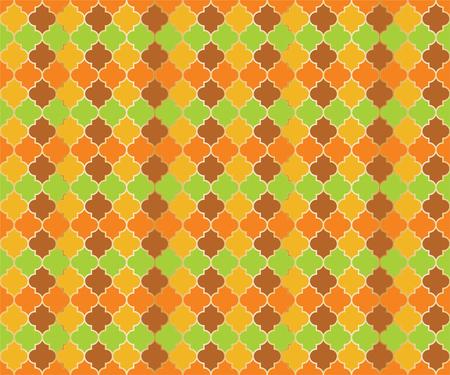 Middle East Mosque Vector Seamless Pattern. Ramadan mubarak muslim background. Traditional ramadan mosque vector pattern with gold grid. Islamic window grid design of lantern shapes tiles. 向量圖像