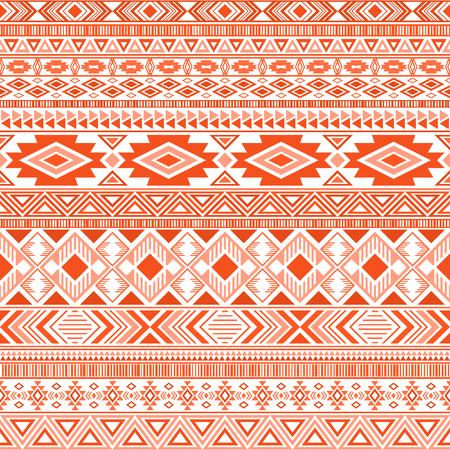 Aztec american indian pattern tribal ethnic motifs geometric vector background. Unusual native american tribal motifs clothing fabric ethnic traditional design. Mayan clothes pattern design.