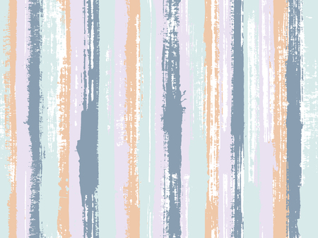 Watercolor strips seamless vector background. Striped tablecloth textile print. Decorative bright plaid ornament swatch. Sloopy gouache vertical lines vector pattern. Illustration