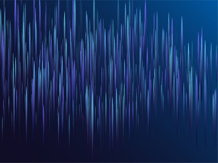 Digital geometric blue lines streams visual optic technology, speed concept. Glowing lines falling abstract big data concept tech vector background. Fiber optics cool scientific background in blue Vettoriali