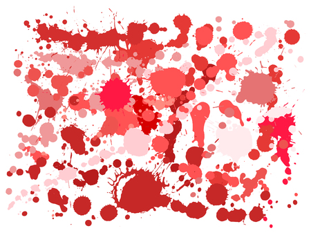 Graffiti spray stains grunge background vector. Hand drawn ink splatter, spray blots, mud spot elements, wall graffiti. Watercolor paint splashes pattern, smear liquid stains splatter background.