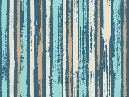 Aquarell Streifen nahtlose Vektor Hintergrund. Gestreifter Tischdecken-Textildruck. Helle Wandgraffitizeichnungsillustration. Freihand Maßwerk Aquarell Linien Vektormuster.