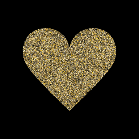 Gold sparkles glitter dust metallic confetti vector background. Graphic golden sparkling background. Gold stardust texture tinsel confetti Christmas vector. Fashion glitter festive sparkles design Ilustração