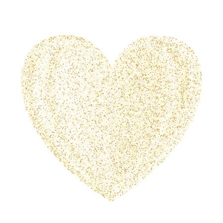 Gold sparkles glitter dust metallic confetti vector background. Decorative golden sparkling background. Gold stardust texture tinsel confetti party vector. Fashion glitter festive sparkles design