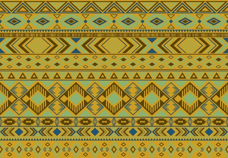 Boho pattern tribal ethnic motifs geometric seamless vector background. Graphic ikat tribal motifs clothing fabric textile print traditional design with triangle and rhombus shapes. Ilustrace