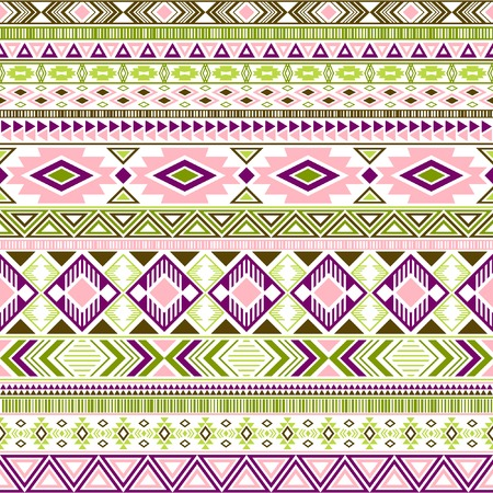 Mayan american indian pattern tribal ethnic motifs geometric seamless background. Impressive native american tribal motifs clothing fabric ethnic traditional design. Mexican folk fashion. Ilustrace