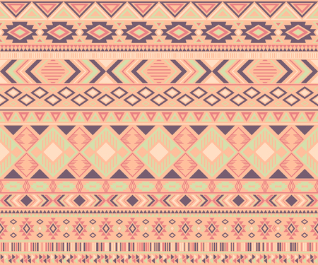Navajo american indian pattern tribal ethnic motifs geometric vector background. Bohemian native american tribal motifs textile print ethnic traditional design. Navajo symbols clothes print.