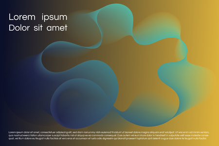 Wavy background for landing concept. Abstract twisted smooth shape. Landing page template vector illustration. Minimal geometric background. Dynamic shape composition Eps10 vector