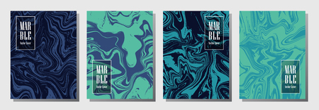 Modern journal layouts set. Texture for binder template, corporate flyers. Annual report cover wavy layouts set. Flyer, booklet, report, journal, binder vectors, title place.