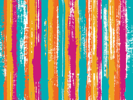 Watercolor strips seamless vector background. Multicolor ethnic sample swatch design. Uneven ink hatch vertical lines textile pattern. Striped tablecloth textile print.