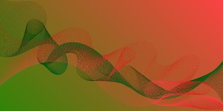 Futuristic lines wave progressing pattern. Technological optical fiber concept vector. Cool curl lines ripple texture design. Overlapping curves card backdrop simple design. Ilustração