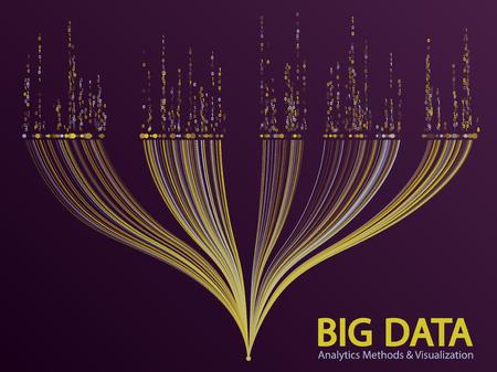 Big data visualization concept vector.