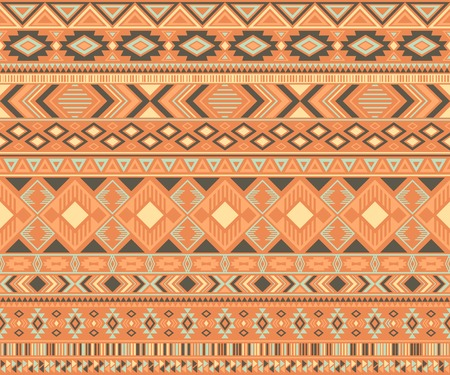 Peruvian american indian pattern tribal ethnic motifs geometric vector background. Modern native american tribal motifs clothing fabric ethnic traditional design. Navajo symbols textile pattern. Ilustrace