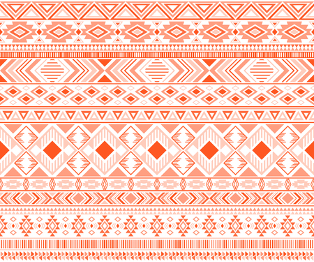 Sacral tribal ethnic motifs geometric seamless background. Bohemian gypsy tribal motifs clothing fabric textile print traditional design with triangles