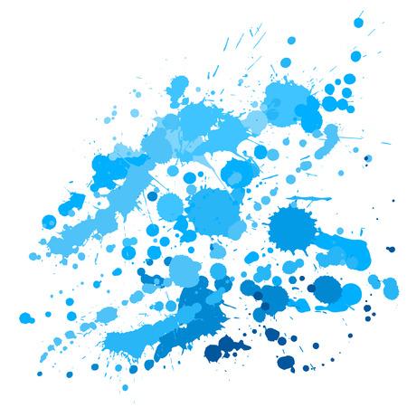 Ink stains grunge background vector. Mottled ink splatter, spray blots, mud spot elements, wall graffiti. Watercolor paint splashes pattern, smear fluid stains splatter backdrop.