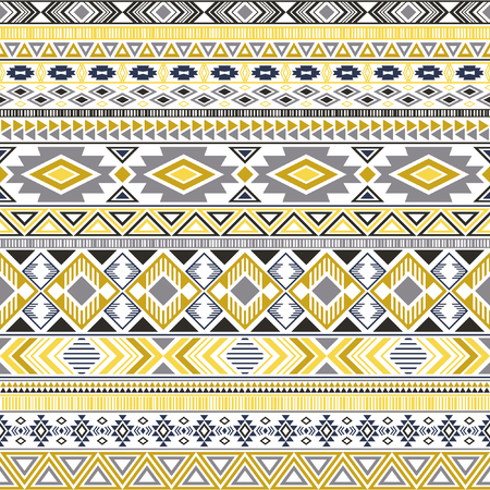 Mayan american indian pattern tribal ethnic motifs geometric seamless background. Beautiful native american tribal motifs clothing fabric ethnic traditional design. Mayan clothes pattern design. Ilustrace