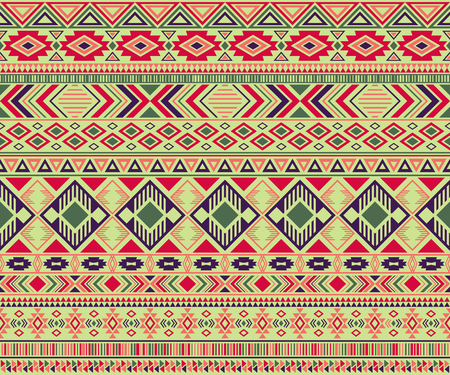 Peruvian american indian pattern tribal ethnic motifs geometric seamless background. Eclectic native american tribal motifs clothing fabric ethnic traditional design. Navajo symbols fabric pattern.