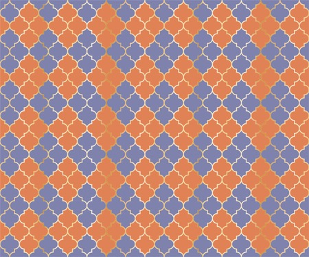 Osman Mosque Vector Seamless Pattern. Argyle rhombus muslim fabric background. Traditional mosque pattern with gold grid. Cool islamic argyle seamless design of lantern lattice shape tiles.