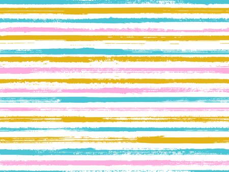 Motif de fond vectorielle continue de rayures grunge. Design minimaliste unique. Pinceau sec rayures conception d'impression de toile de fond grunge. Fond de lignes d'art à l'encre sèche. Motif de nappe art lignes. Vecteurs