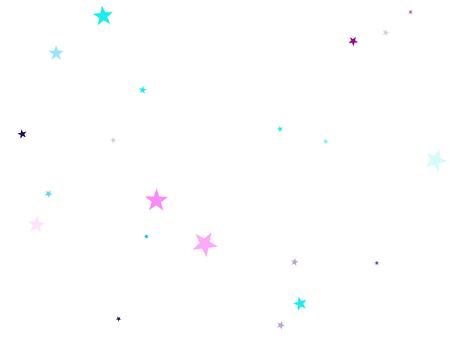白のシアンブルーバイオレットで空飛ぶ星紙吹雪の休日のベクトル。混沌とした休日の装飾の背景。パーティースターパターングラフィックデザイン。きらめきスターバーストアストラル壁紙。
