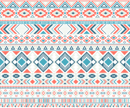 Sacral tribal ethnic motifs geometric vector background. Cool gypsy tribal motifs clothing fabric textile print traditional design with triangles Reklamní fotografie - 121314457