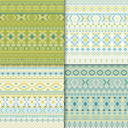 Mexican tribal ethnic motifs geometric patterns collection. Abstract tribal motifs clothing fabric textile ethno prints traditional design. Native american folk fashion prints.