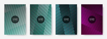 Gradient zig zag stripes texture vector backgrounds for   business covers. Minimalistic zig zag gradient line stripes composition. Poster backdrops collection.