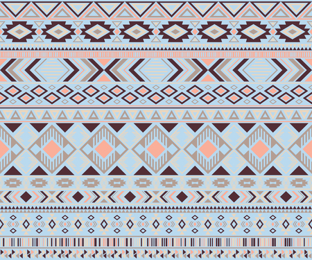 Peruvian american indian pattern tribal ethnic motifs geometric vector background. Abstract native american tribal motifs textile print ethnic traditional design. Navajo symbols textile pattern.
