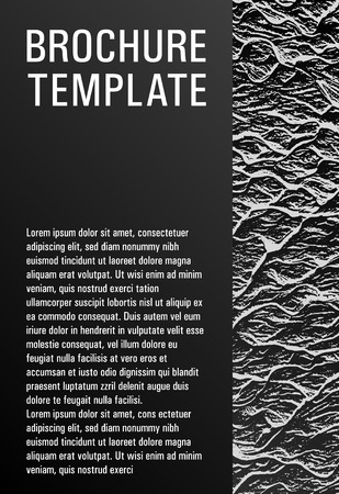 Flyer poster vector graphic design. Black and white monochrome waves texture. Liquid rippling motion background pattern. Branding profile cover sample. Modern poster, cover or flyer template.