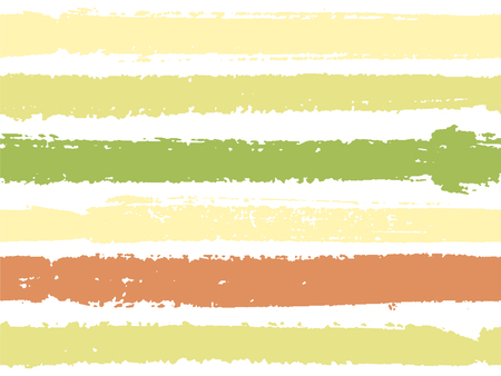Horizontal ink lines paint stripes seamless vector summer pattern. Painted horizontal dry brush strokes stripy texture. Hand drawn paint strokes cute paintbrush lines horizontal background. Foto de archivo - 123088817
